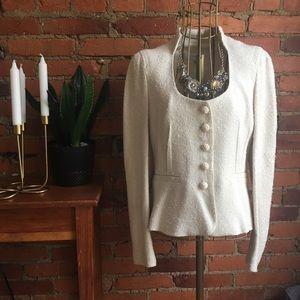 On Sale 💡💡 Zara Silk Ivory Woven Blazer